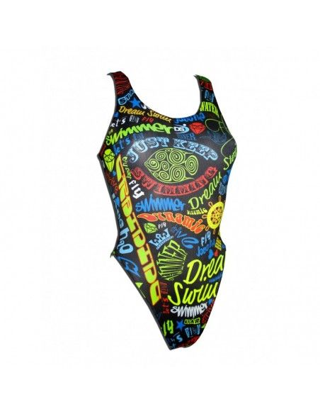 Woman Swimsuit DS SWIMMER - Excellent chlorine resistance, wide strap.