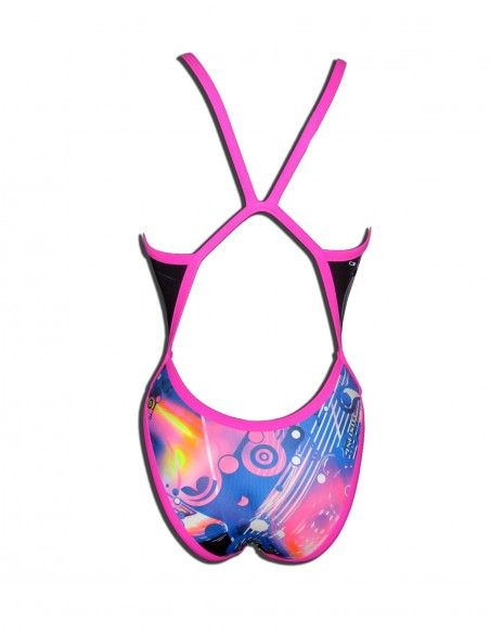 Woman Swimsuit DS PSICODELIC- Excellent chlorine resistance, thin strap.