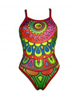 Woman Swimsuit DS MANDALA- Excellent chlorine resistance, thin strap.