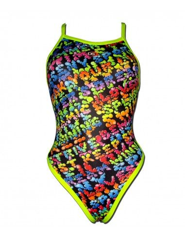 Woman Swimsuit DS LETTERS- Excellent chlorine resistance, thin strap.
