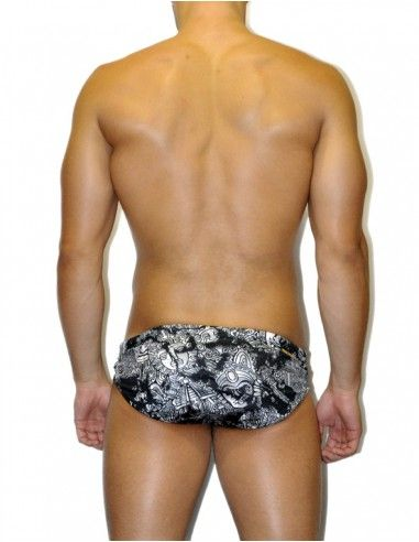 MEN'S WATERPOLO DS SWIMSUIT TOTEM BLACK