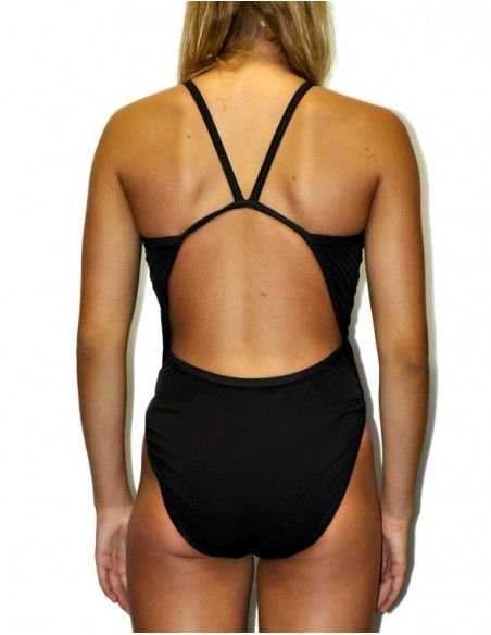 Woman Swimsuit DS BASICO NEGRO - Excellent chlorine resistance, thin strap