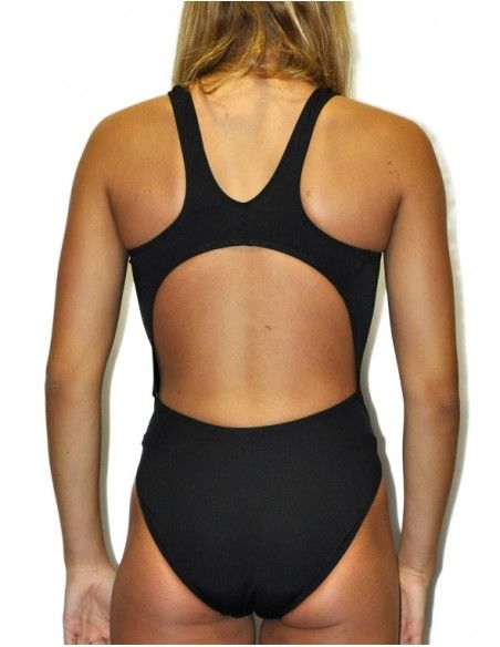 Woman Swimsuit DS BASICO NEGRO- Excellent chlorine resistance, wide strap.