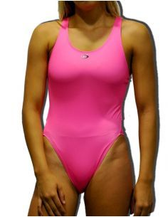 Woman Swimsuit DS FLUOR ROSA- Excellent chlorine resistance, wide strap.