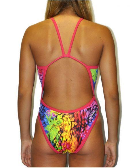 Woman Swimsuit DS Oil - Excellent chlorine resistance, thin strap.
