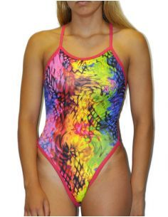 Woman Swimsuit DS Oil - Excellent chlorine resistance, thin strap.