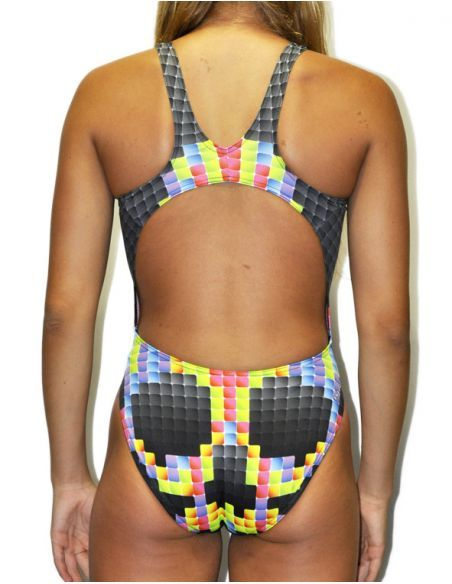 Woman Swimsuit DS PIXEL- Excellent chlorine resistance, wide strap.