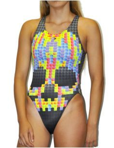 Woman Swimsuit DS PIXEL- Excellent chlorine resistance, wide strap.