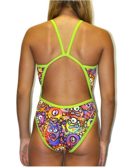 Woman Swimsuit DS MONSTERS- Excellent chlorine resistance, thin strap.