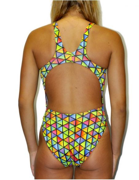 Woman Swimsuit DS TRIANGLES- Excellent chlorine resistance, wide