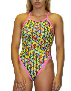 Woman Swimsuit DS TRIANGLES- Excellent chlorine resistance, thin strap.