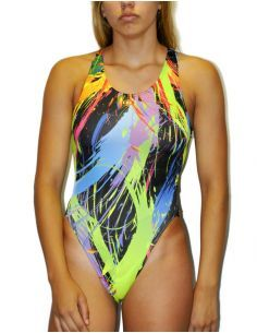 Woman Swimsuit DS PAINT Excellent chlorine resistance, wide strap.