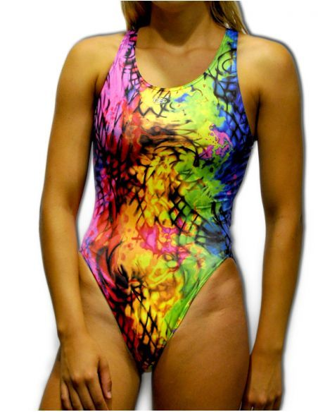 Woman Swimsuit DS OIL - Excellent chlorine resistance, wide strap.