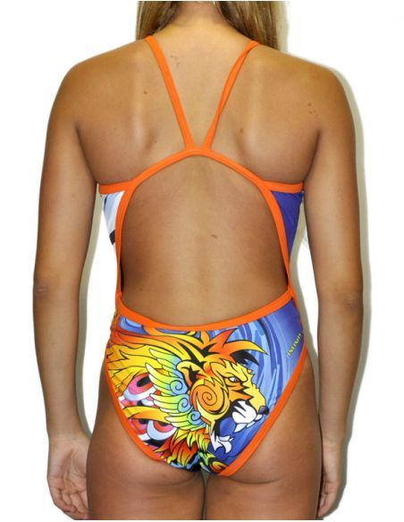 Woman Swimsuit DS MANGA LION- Excellent chlorine resistance, thin strap.