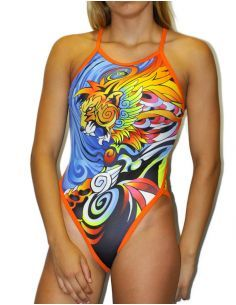 Woman Swimsuit DS MANGA LION- Excellent chlorine resistance, thin strap.