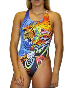 Woman Swimsuit DS MANGA LION - Excellent chlorine resistance, wide strap.