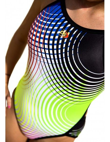 Woman Swimsuit DS SONAR - Excellent chlorine resistance, thin strap.