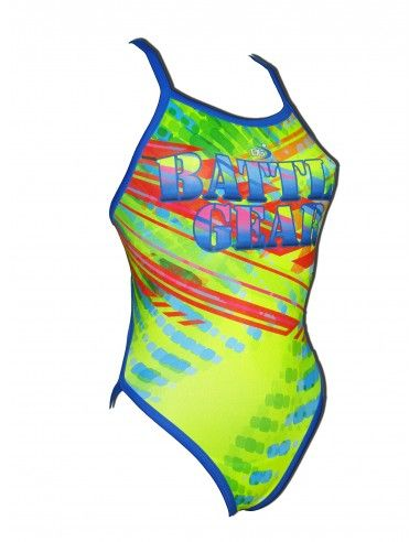 Woman Swimsuit DS BATTLE GEAR- Excellent chlorine resistance, thin strap.