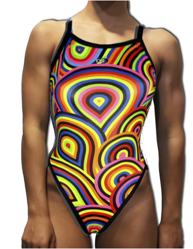 DS COLORS WOMAN SWIMSUIT WIDE STRAP