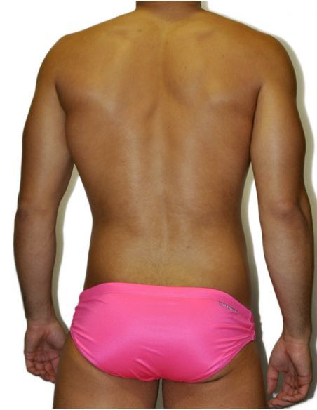 MEN'S WATERPOLO DS SWIMSUIT FLUOR ROSA, Double-layered & excellent chlorine resistance.