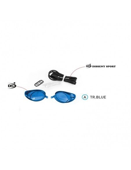 DS START MIRROR SWIMMING GOGGLES blue