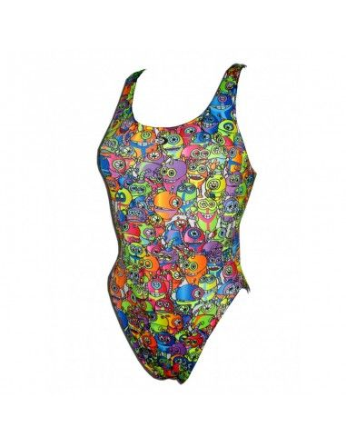 Woman Swimsuit DS ROBOTS - Excellent chlorine resistance, wide strap.
