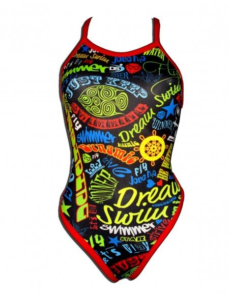 Woman Swimsuit DS SWIMMER- Excellent chlorine resistance, thin strap.