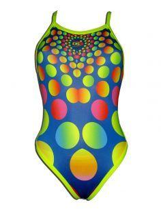 Woman Swimsuit DS RODONES- Excellent chlorine resistance, thin strap.
