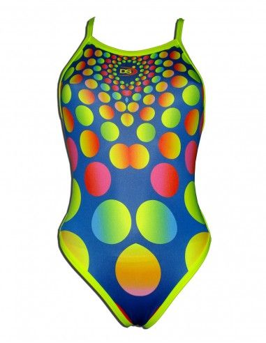 Woman Swimsuit DS RODONES- Excellent chlorine resistance, thin strap.